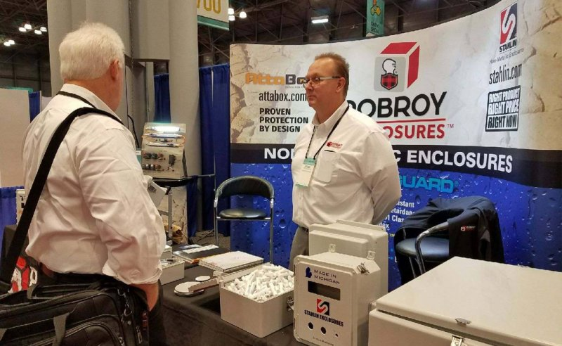 Robroy Enclosures booth at 2017 Chem Show in New York City